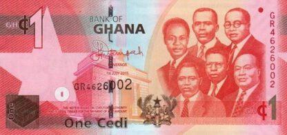 Ghana 1 Cedi 2015 UNC