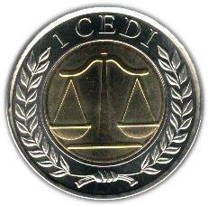 Ghana 1 Cedi 2007 UNC