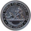 Eiland Man 1 Crown 1986  UNC