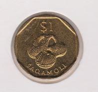 Fiji 1 Dollar 1999 UNC