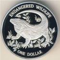 Cayman Island 1 Dollar 1995 Proof