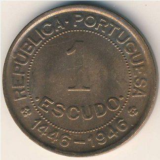 Guinea-Bissau 1 Escudo 1946 XF/UNC