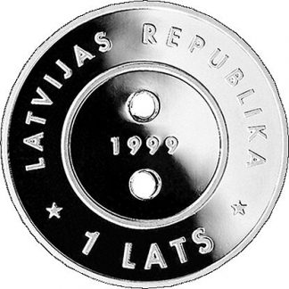 Letland 1 Lats 1999 proof