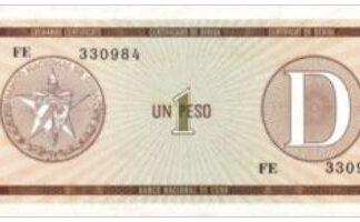 Cuba 1 Pesos 1985 UNC