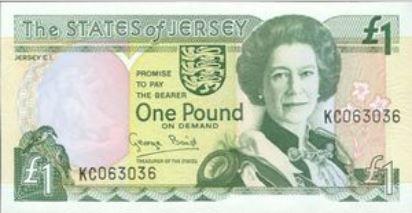 Jersey 1 Pound 1993 UNC