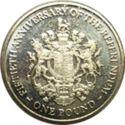 Gibraltar 1 Pound 2017 UNC