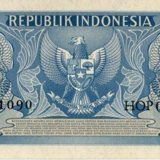 Indonesie 1 Rupee 1956 UNC