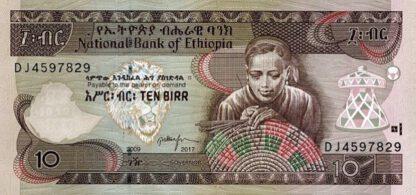 Ethiopie 10 Birr 2017 UNC