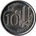 Singapore 10 Cent 2013 UNC