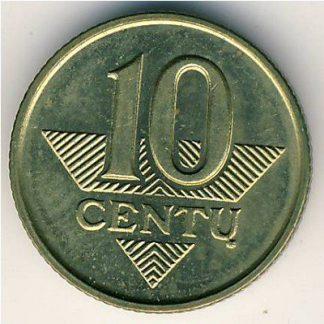 Litouwen 10 Centu 1999 UNC