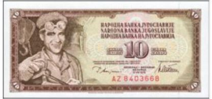 Joegoslavië 10 Dinara 1978 UNC