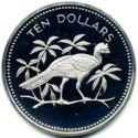 Belize 10 Dollar 1974 Proof