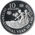 Cayman Island 10 Dollar 1982 Proof
