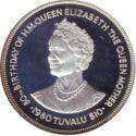 Tuvalu 10 Dollar 1980 Proof