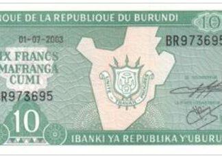 Burundi 10 Frank 2005 UNC