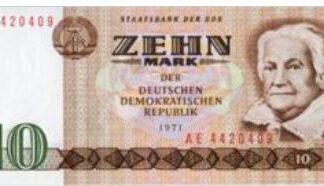 Duitse Democratische Republiek 10 Mark 1971 UNC