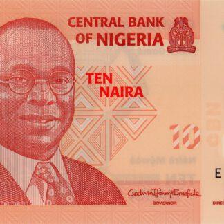 Nigeria 10 Naira 2019 UNC