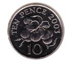 Guernsey 10 Pence 2003 UNC