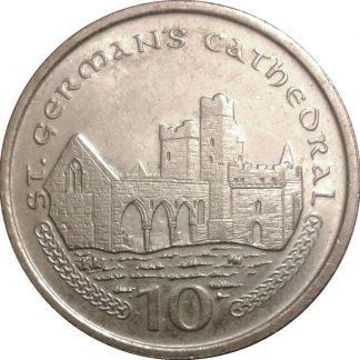 Eiland Man 10 Pence 2001 UNC