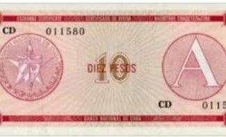 Cuba 10 Pesos 1985 UNC