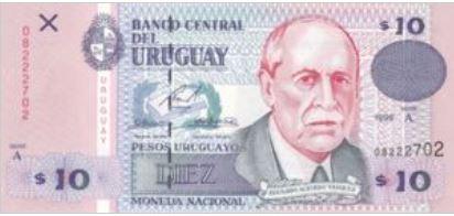 Uruguay 10 Pesos 1998 UNC
