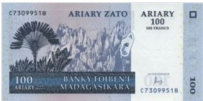 Madagaskar 100 Ariary 2004 UNC