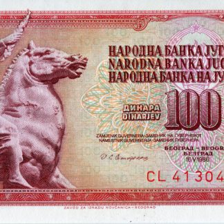 Joegoslavie 100 Dinara 1986 UNC