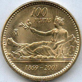 Spanje 100 Pesetas 2001 UNC