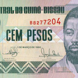 Guinea-Bissau 100 Pesos 1990 UNC