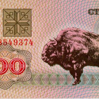 Belarus 100 Roebels 1992 UNC