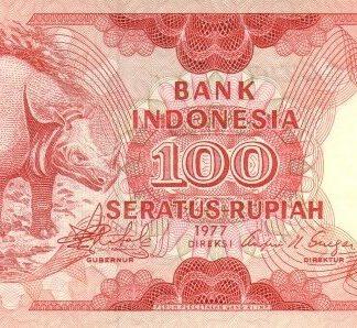 Indonesie 100 Rupees 1977 UNC