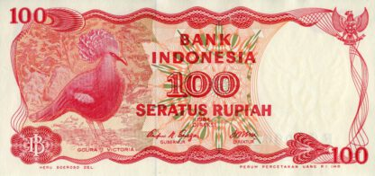 Indonesie 100 Rupees 1984
