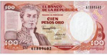 Colombia 100 Pesos 1991 UNC