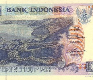 Indonesie 1000 Rupees 1992 UNC