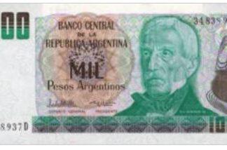 Argentina 1000 Pesos 1983/85 UNC