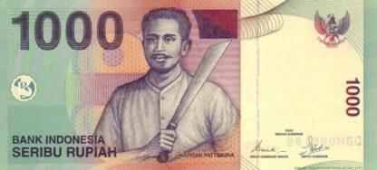 Indonesie 1000 Rupees 2001