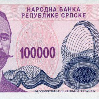 Bosnie Herzegovina 100.000 Dinara 1993 UNC