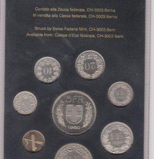 Zwitserland set 1980 MS 60