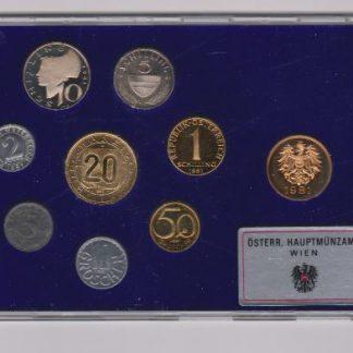 Oostenrijk set 1981 Proef