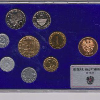 Oostenrijk set 1984 Proef