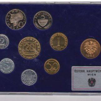 Oostenrijk set 1985 Proef