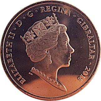 Gibraltar 2 Pence 2018 UNC