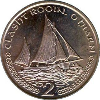 Eiland Man 2 Pence 2001 UNC