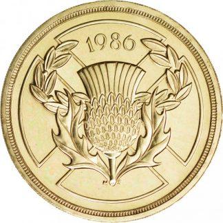Engeland 2 Pound 1986 UNC