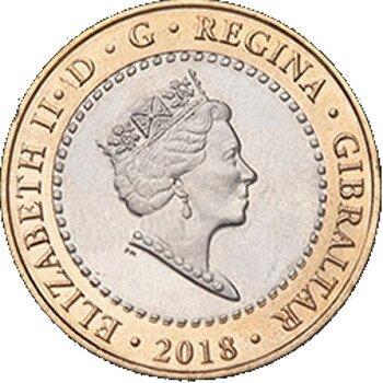 Gibraltar 2 Dollar 2018 UNC