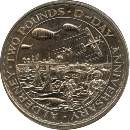 Alderney 2 pound 1994 UNC