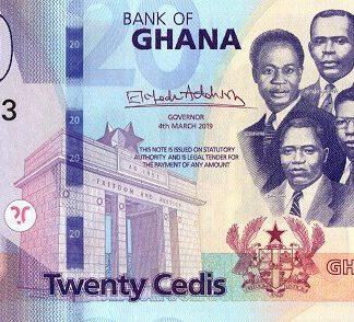 Ghana 20 Cedis 2019 UNC