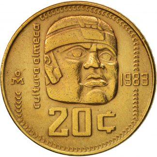 Mexico 20 Centavos 1983 UNC