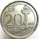 Singapore 20 Cent 2013 UNC