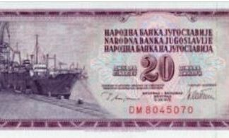 Joegoslavië 20 Dinara 1974 UNC